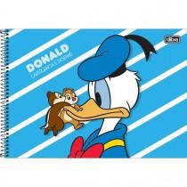 Imagem - Caderno Espiral Capa Dura Cartografia e Desenho Donald 80 Folhas (Pacote com 4 unidades) - Sortido