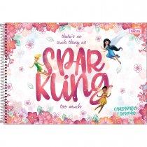 Imagem - Caderno Espiral Capa Dura Cartografia e Desenho Fadas 80 Folhas - Sortido (Pacote com 4 unidades)