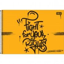 Imagem - Caderno Espiral Capa Dura Cartografia e Desenho Graffiti 80 Folhas - Sortido (Pacote com 4 unidades)