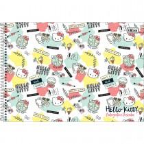 Imagem - Caderno Espiral Capa Dura Cartografia e Desenho Hello Kitty 96 Folhas - Sortido (Pacote com 4 unidades)...