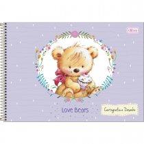 Imagem - Caderno Espiral Capa Dura Cartografia e Desenho Love Bears 96 Folhas - Sortido (Pacote com 4 unidades)...