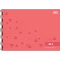 Imagem - Caderno Espiral Capa Dura Cartografia e Desenho Lunix 60 Folhas - Sortido (Pacote com 4 unidades)