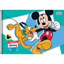 Imagem - Caderno Espiral Capa Dura Cartografia e Desenho Mickey 96 Folhas - Sortido (Pacote com 4 unidades)