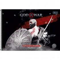 Imagem - Caderno Espiral Capa Dura Cartografia e Desenho Milimetrado God of War 96 Folhas - Sortido (Pacote com 4 unidades)...