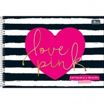 Imagem - Caderno Espiral Capa Dura Cartografia e Desenho Milimetrado Love Pink 96 Folhas - Sortido
