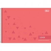 Caderno Espiral Capa Dura Cartografia e Desenho Milimetrado Lunix 60 Folhas (Pacote com 4 unidades) - Sortido