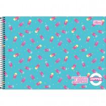 Imagem - Caderno Espiral Capa Dura Cartografia e Desenho Milimetrado Pepper 80 folhas - Sortido (Pacote com 4 unidades)...
