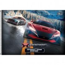 Imagem - Caderno Espiral Capa Dura Cartografia e Desenho Milimetrado X-Racing 96 Folhas - Sortido (Pacote com 4 unidades)...