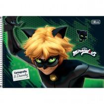 Imagem - Caderno Espiral Capa Dura Cartografia e Desenho Miraculous: Cat Noir 80 Folhas (Pacote com 4 unidades) - Sortido...
