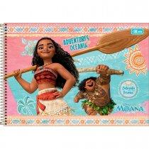 Imagem - Caderno Espiral Capa Dura Cartografia e Desenho Moana 96 Folhas - Sortido (Pacote com 4 unidades)
