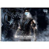 Imagem - Caderno Espiral Capa Dura Cartografia e Desenho Mortal Kombat 80 Folhas - Sortido (Pacote com 4 unidades)...