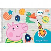 Imagem - Caderno Espiral Capa Dura Cartografia e Desenho Peppa Pig 80 Folhas - Sortido (Pacote com 4 unidades)...