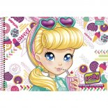 Imagem - Caderno Espiral Capa Dura Cartografia e Desenho Polly Pocket 96 Folhas - Sortido (Pacote com 4 unidades)...