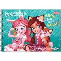 Imagem - Caderno Espiral Capa Dura Cartografia e Desenho Polly Pocket e Enchantimals 80 Folhas - Sortido (Pacote com 4 unidades)...