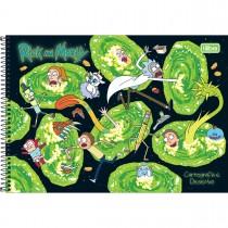 Imagem - Caderno Espiral Capa Dura Cartografia e Desenho Rick and Morty 80 Folhas - Sortido (Pacote com 4 unidades)...