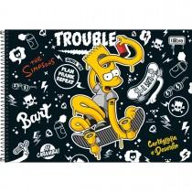Imagem - Caderno Espiral Capa Dura Cartografia e Desenho Simpsons 96 Folhas - Sortido (Pacote com 4 unidades)