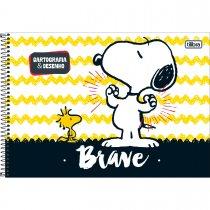 Imagem - Caderno Espiral Capa Dura Cartografia e Desenho Snoopy 96 Folhas - Sortido (Pac...