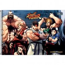 Imagem - Caderno Espiral Capa Dura Cartografia e Desenho Street Fighter 80 Folhas - Sortido (Pacote com 4 unidades)...