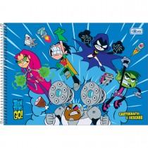 Imagem - Caderno Espiral Capa Dura Cartografia e Desenho Teen Titans Go! 80 Folhas - Sortido (Pacote com 4 unidades)...