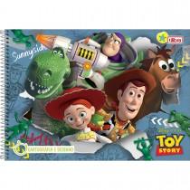 Imagem - Caderno Espiral Capa Dura Cartografia e Desenho Toy Story 96 Folhas - Sortido (Pacote com 4 unidades)...