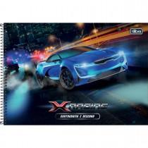 Imagem - Caderno Espiral Capa Dura Cartografia e Desenho X-Racing 96 Folhas (Pacote com 4 unidades) - Sortido