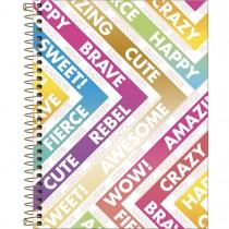 Imagem - Caderno Espiral Capa Dura Colegial 1 Matéria Be Nice 80 Folhas - Sortido
