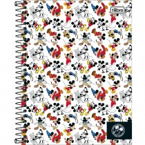 Imagem - Caderno Espiral Capa Dura Colegial 1 Matéria Mickey 90 anos 80 Folhas - Sortido (Pacote com 4 unidades)...