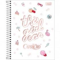 Imagem - Caderno Espiral Capa Dura Colegial 10 Matérias Capricho 160 Folhas