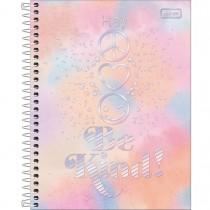 Imagem - Caderno Espiral Capa Dura Colegial 10 Matérias Good Vibes 160 Folhas - Sortido