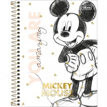 Imagem - Caderno Espiral Capa Dura Colegial 10 Matérias Mickey 90 Anos 160 Folhas (Pacote com 4 unidades) - Sortido...