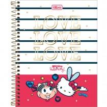 Imagem - Caderno Espiral Capa Dura Colegial 10 Matérias Mônica Hello Kitty 160 Folhas