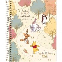 Imagem - Caderno Espiral Capa Dura Colegial 10 Matérias Pooh 160 Folhas - Sortido