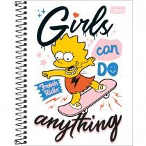 Caderno Espiral Capa Dura Colegial 10 Matérias Simpsons 160 Folhas (Pacote com 4 unidades) - Sortido