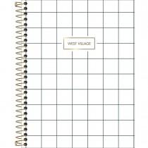 Caderno Espiral Capa Dura Colegial 10 Matérias West Village 160 Folhas (Pacote com 4 unidades) - Sortido