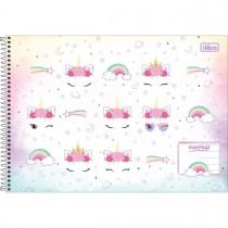 Imagem - Caderno Espiral Capa Dura Meia Pauta Blink 48 Folhas (Pacote com 4 unidades) - Sortido