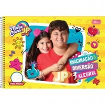 Imagem - Caderno Espiral Capa Dura Meia Pauta Maria Clara e JP 48 Folhas (Pacote com 4 unidades) - Sortido