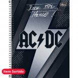 Imagem - Caderno Espiral Capa Dura Universitário 1 Matéria AC/DC 96 Folhas - Sortido (Pacote com 4 unidades)
