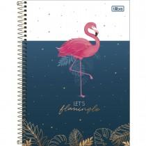 Imagem - Caderno Espiral Capa Dura Universitário 1 Matéria Aloha 80 Folhas - Let's Flamingle - Sortido