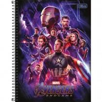 Imagem - Caderno Espiral Capa Dura Universitário 1 Matéria Avengers Endgame 80 Folhas - Sortido
