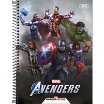 Imagem - Caderno Espiral Capa Dura Universitário 1 Matéria Avengers Game 80 Folhas (Pacote com 4 unidades) - Sortido...