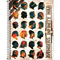 Imagem - Caderno Espiral Capa Dura Universitário 1 Matéria Avengers Infinity War 80 Folhas - Sortido (Pacote com 4 unidades)...