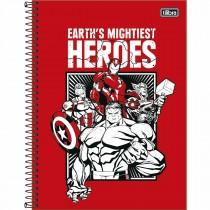Imagem - Caderno Espiral Capa Dura Universitário 1 Matéria Avengers Light 80 Folhas (Pacote com 4 unidades) - Sortido...