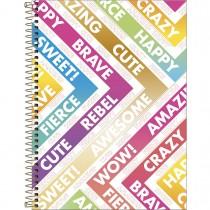 Imagem - Caderno Espiral Capa Dura Universitário 1 Matéria Be Nice 80 Folhas - Sortido