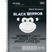 Imagem - Caderno Espiral Capa Dura Universitário 1 Matéria Black Mirror 80 Folhas (Pacote com 4 unidades) - Sortido...