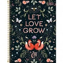 Imagem - Caderno Espiral Capa Dura Universitário 1 Matéria Capricho 80 Folhas - Let Love Grow - Sortido