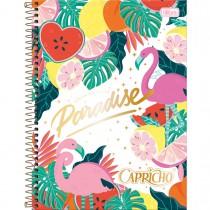 Imagem - Caderno Espiral Capa Dura Universitário 1 Matéria Capricho 80 Folhas - Paradise - Sortido