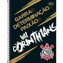 Imagem - Caderno Espiral Capa Dura Universitário 1 Matéria Clube de Futebol Corinthians 80 Folhas (Pacote com 4 unidades) - Sortido...