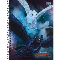 Caderno Espiral Capa Dura Universitário 1 Matéria Dragões 80 Folhas (Pacote com 4 unidades) - Sortido