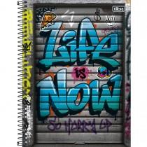 Imagem - Caderno Espiral Capa Dura Universitário 1 Matéria Graffiti 80 Folhas (Pacote com 4 unidades) - Sortido...