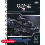 Imagem - Caderno Espiral Capa Dura Universitário 1 Matéria Halo - 96 Folhas - Sortido (Pacote com 4 unidades)